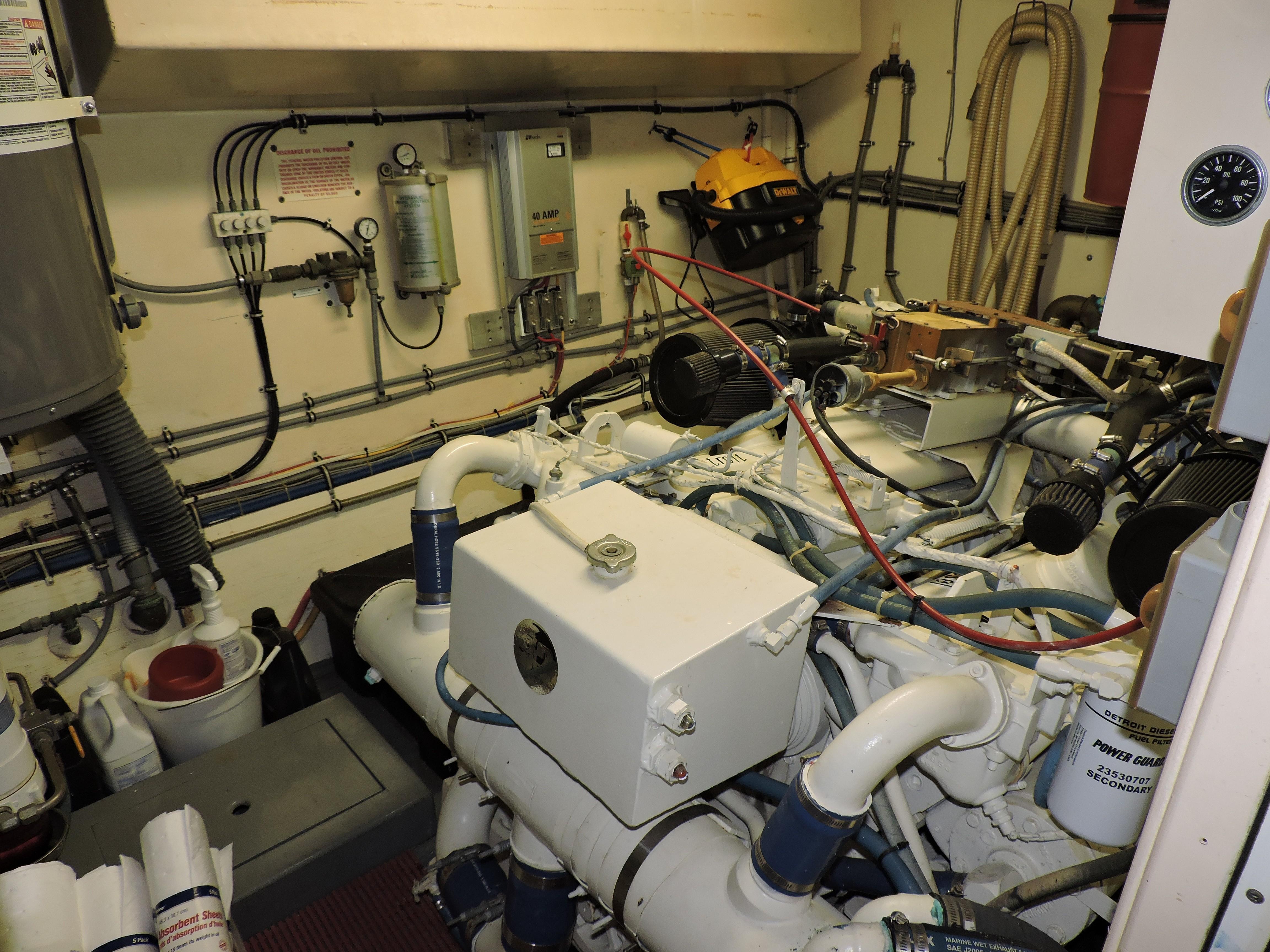 Serenity Hatteras 60 Yachts For Sale Garmin 5212 Chartplotter Marine Wiring Diagram Starboard Engine Room