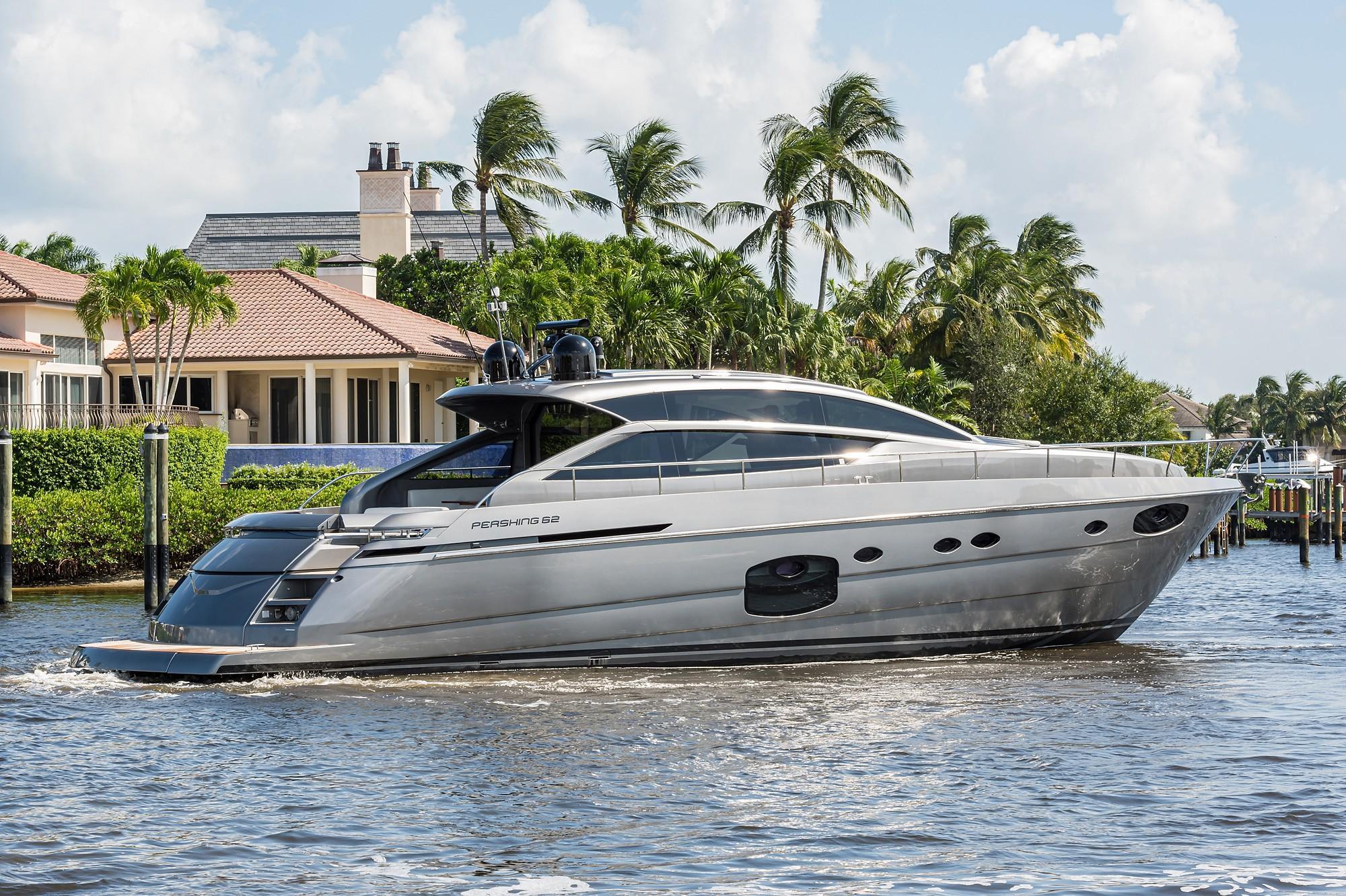 Sunshine, 62 Pershing 2014 Starboard Profile