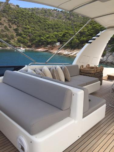 Very Comfortable Flybridge, All Settees' Upholstery Completely Renewed