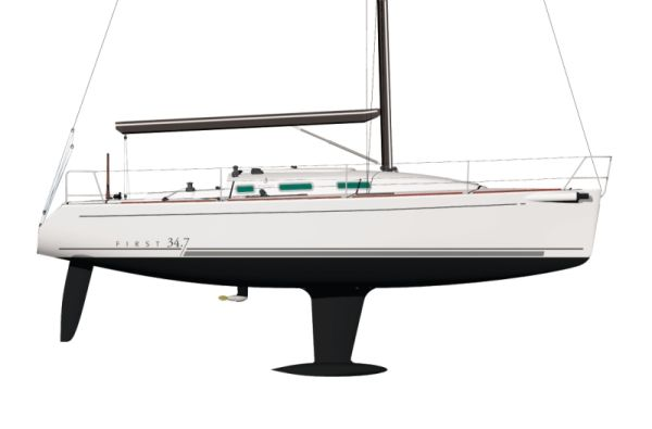 Hull Profile And Keel And Rudder
