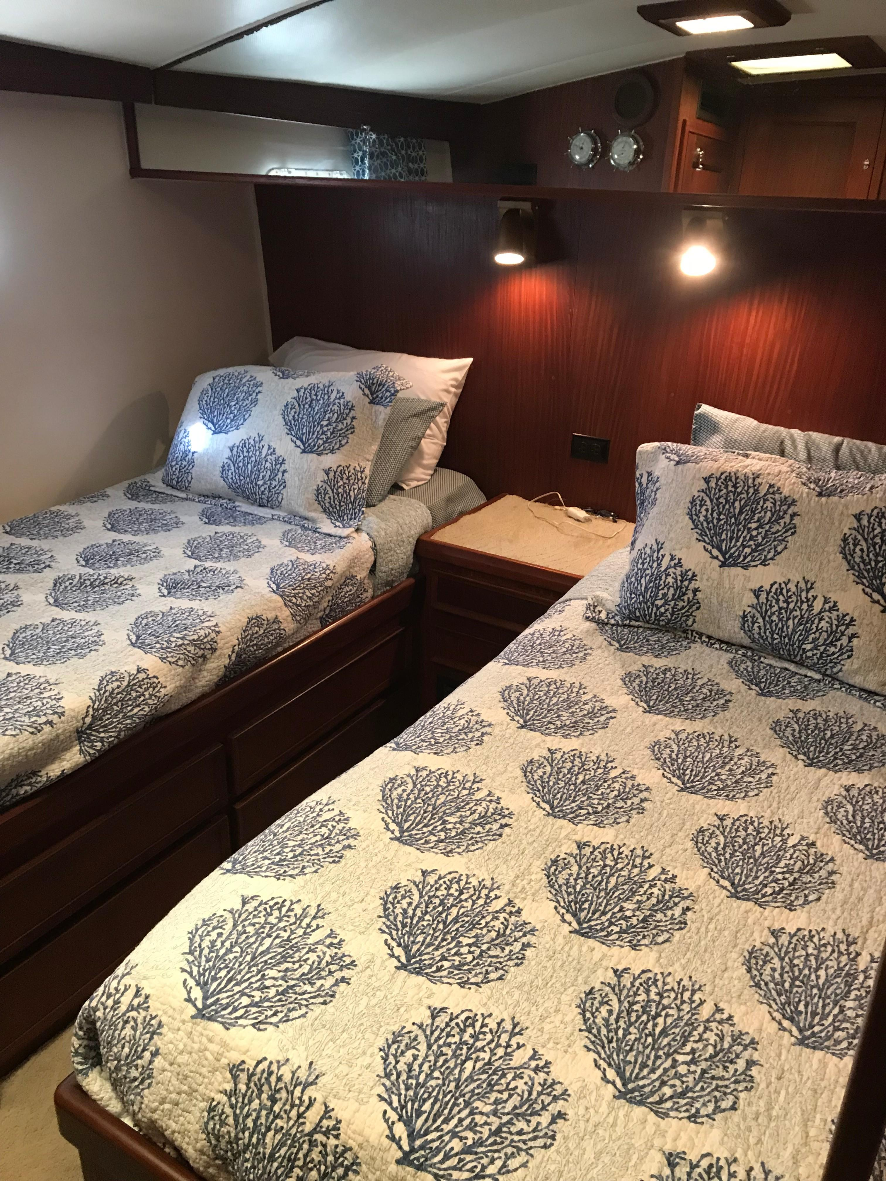 Hatteras Convertible - MUST SEE - Master Stateroom to Starboard