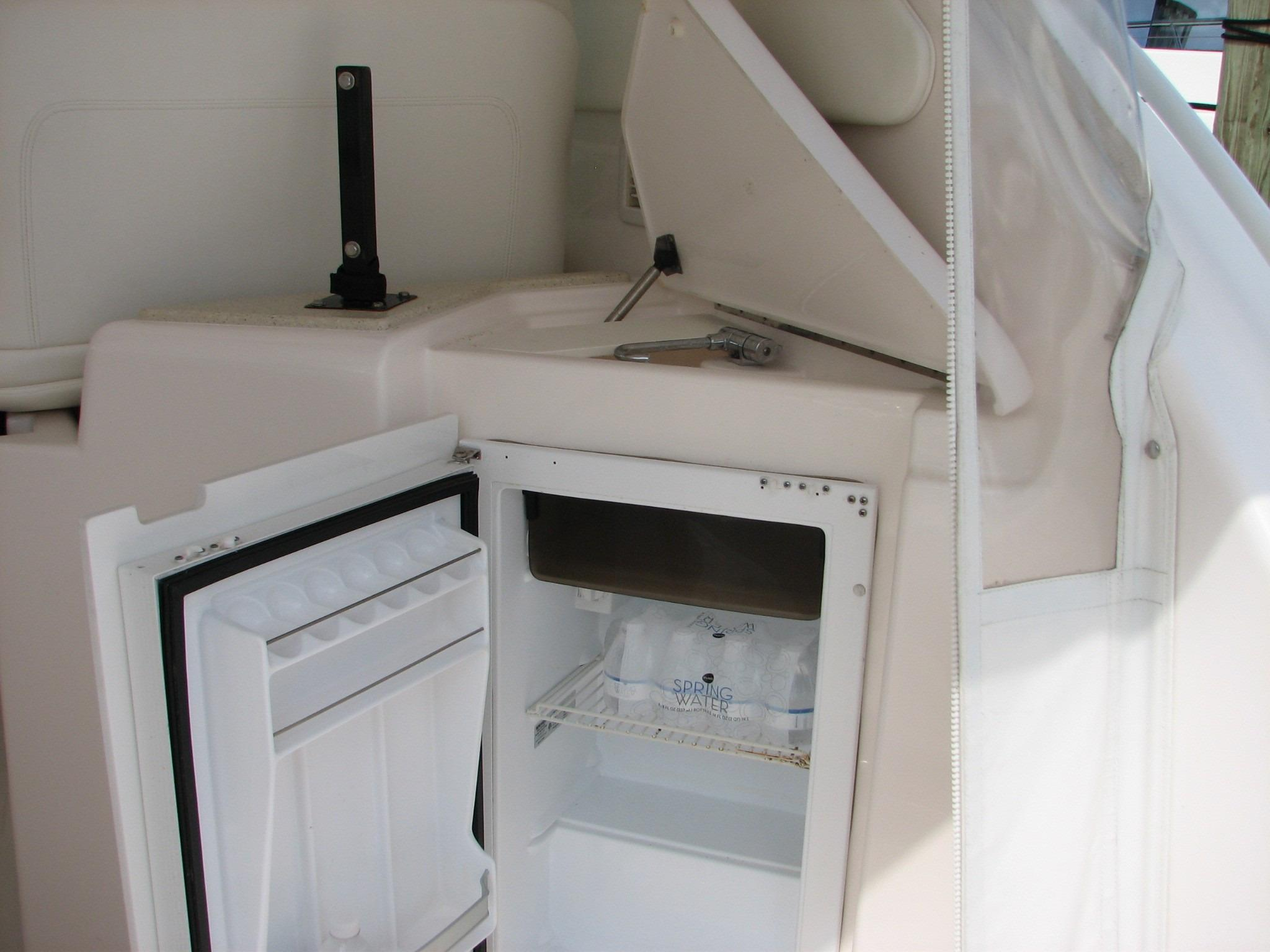 Helm Area Refrigerator and Sink