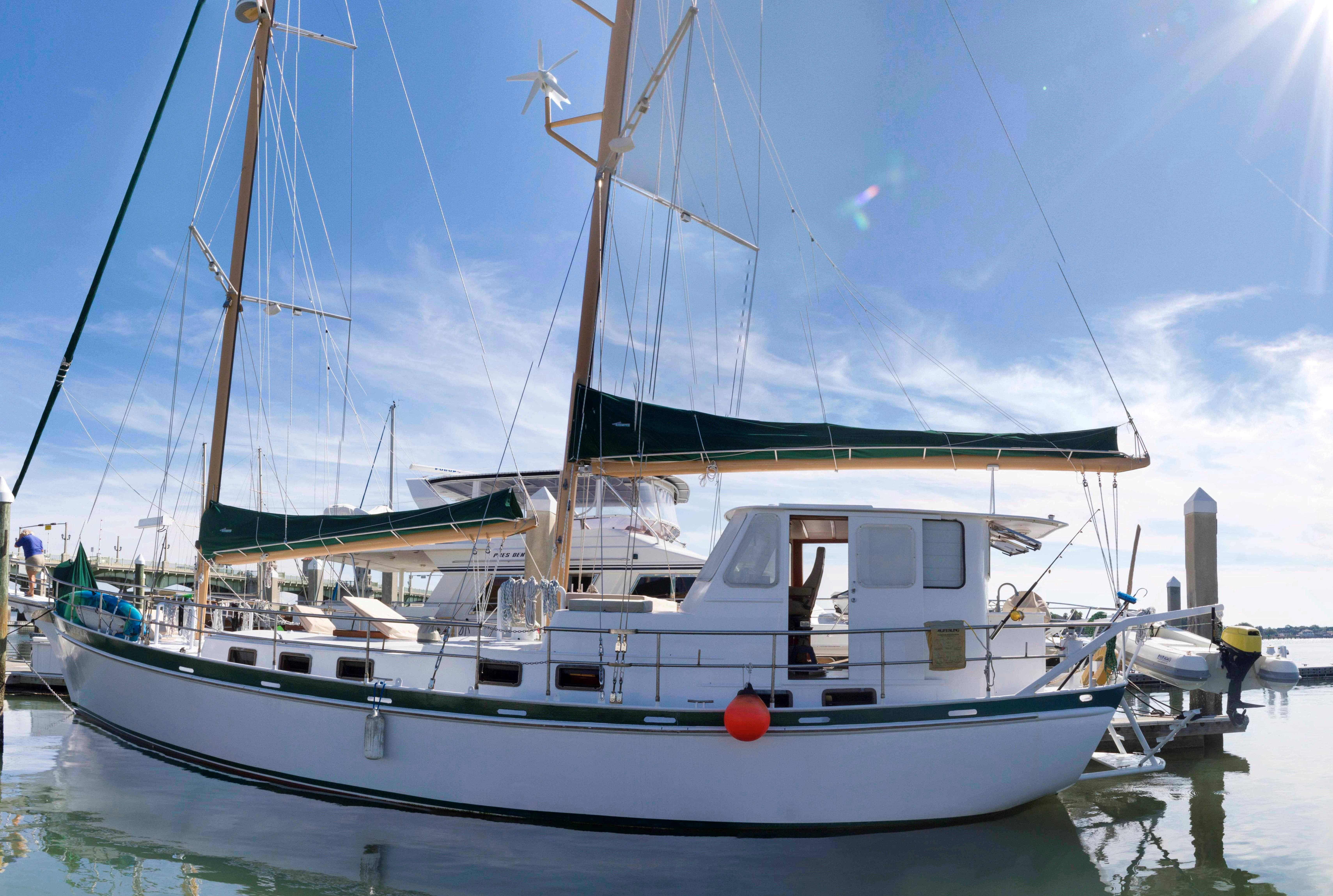 65' Custom Steel George Sutton 1988 65-foot Luxury Schooner
