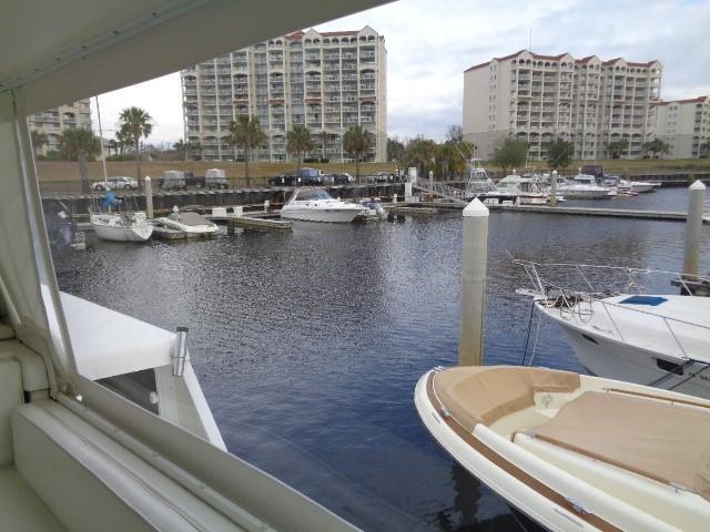 Viking 54 Motor Yacht - Helm View 2