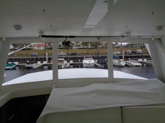 Viking 54 Motor Yacht - Helm View 3