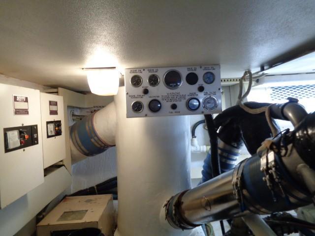 Viking Motor Yacht - Engine Room Gauges