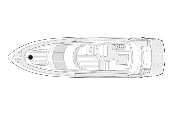 Sunseeker Manhattan 60 - Flybridge Layout