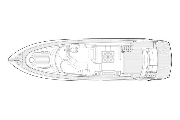 Sunseeker Manhattan 60 - Main Deck Layout