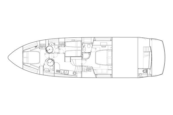 Sunseeker Manhattan 60 - Lower Deck Layout