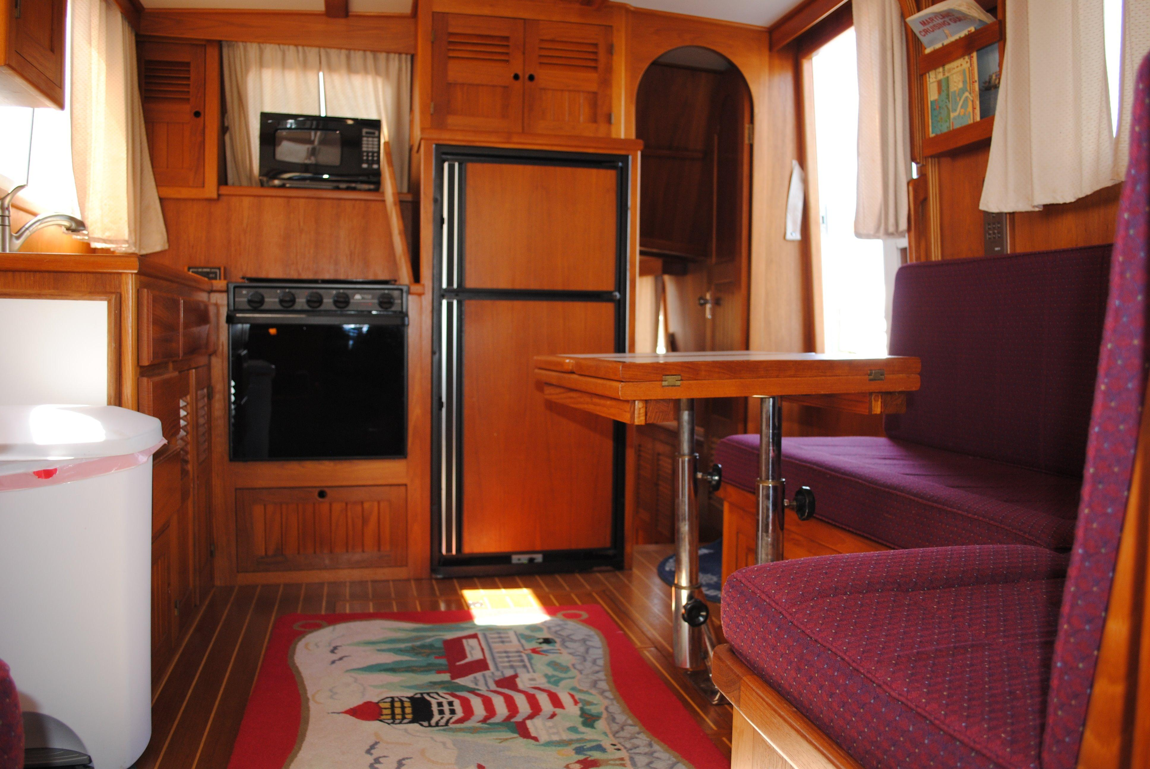 Cabin With Galley And Salon.