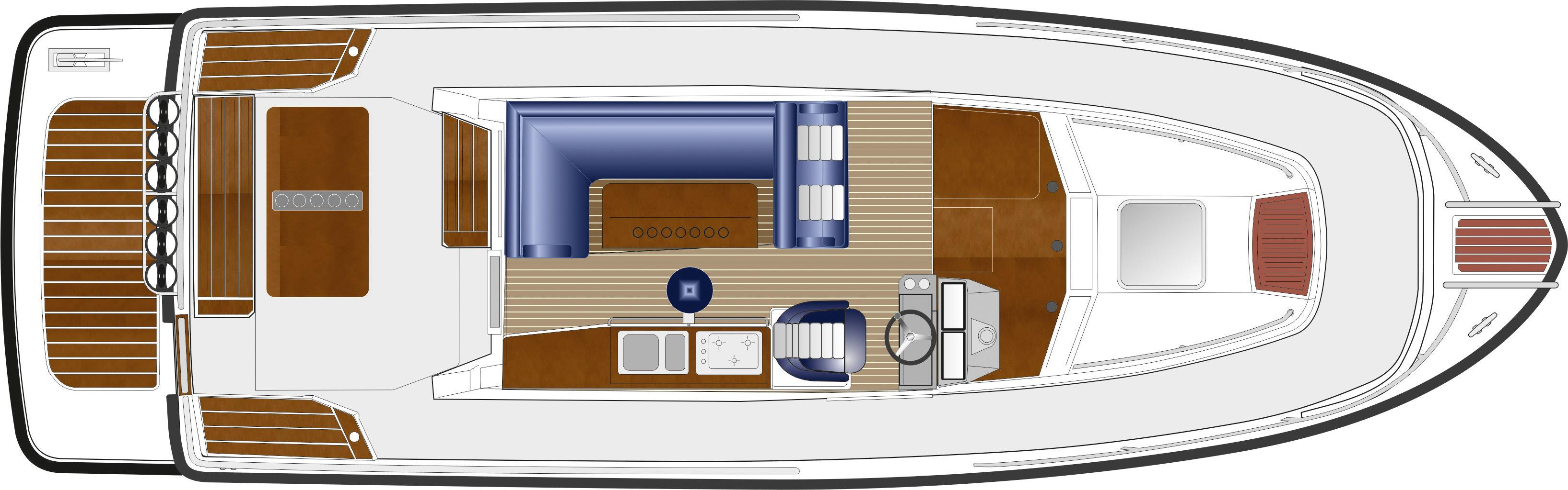 Sargo 33 Explorer - internal deck plan