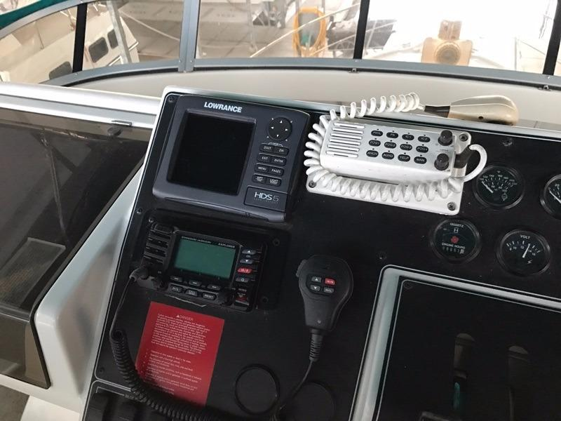 New VHF radio helm