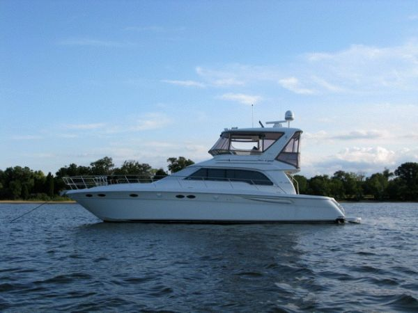 "Sea Ray 480 Sedan Bridge ""Three Stateroom"" with a Bow Thruster Convertible ..."
