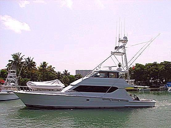2000 Hatteras 70 Convertible Enclosed Bridge MTU