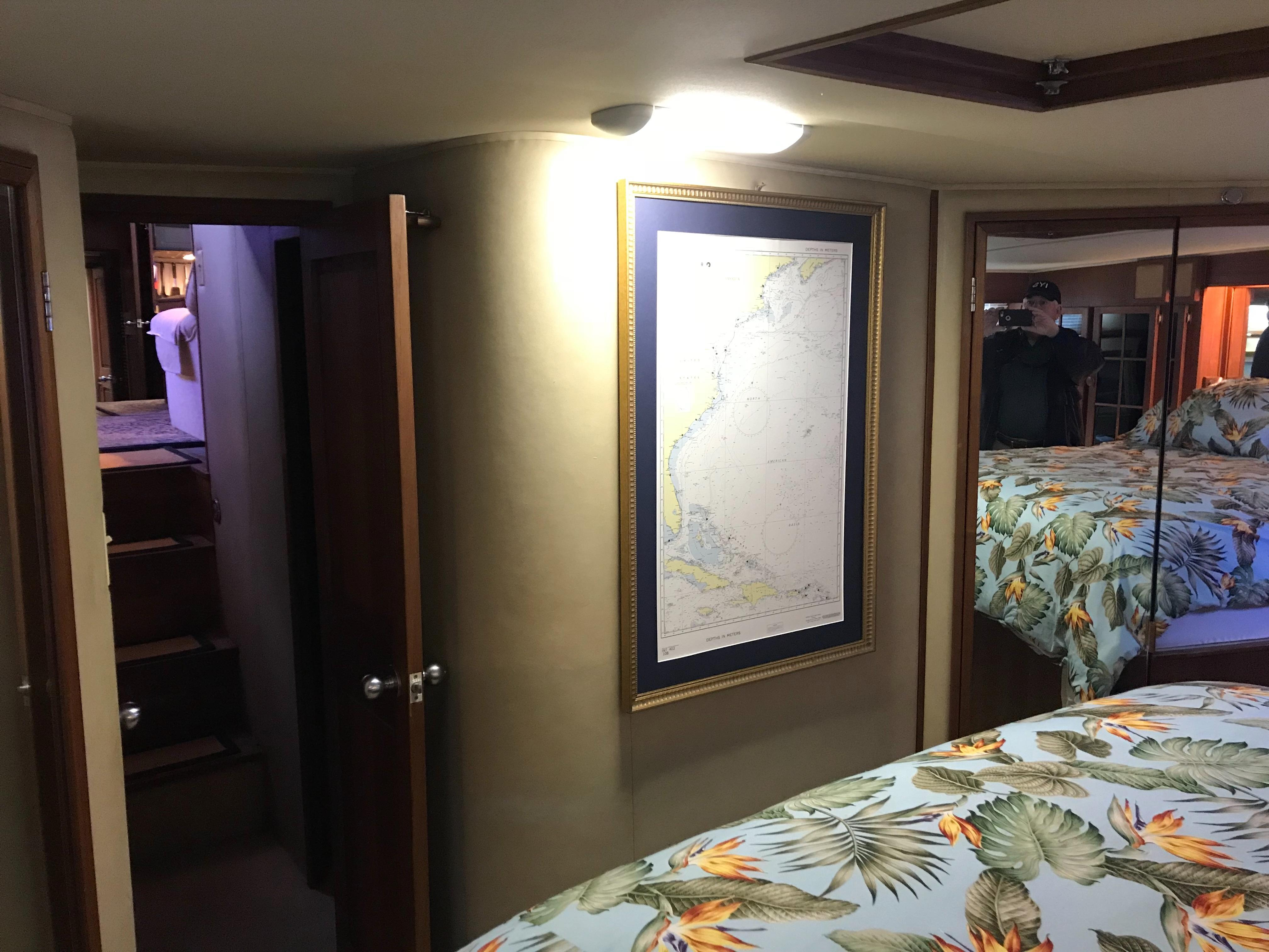 Chris-craft 46 Constellation - Master Stateroom looking forward