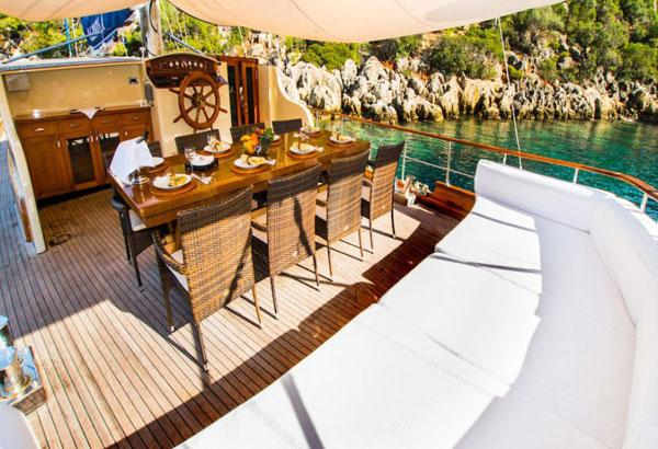 Dining Area Of The 21 M Transom Stern Gulet
