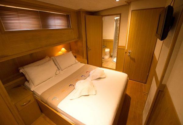 21 M Wooden Gulet's VIP Cabin