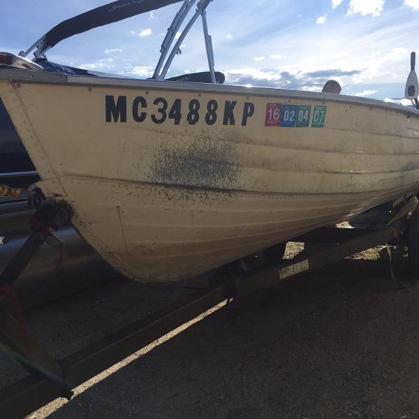 1977 MIRROCRAFT 14 FISHING BOAT for sale