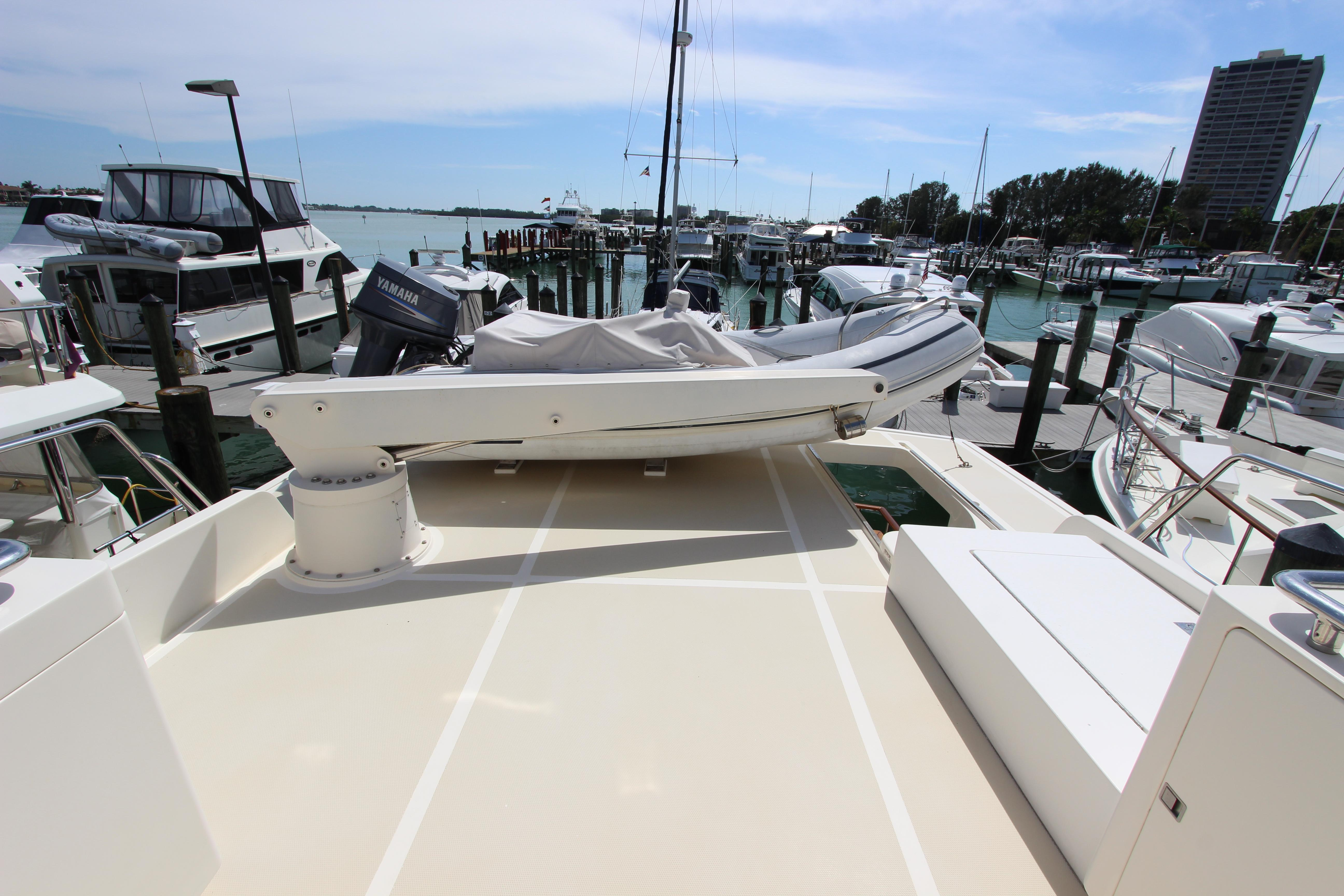 Boat Deck W/Dinghy & Crane
