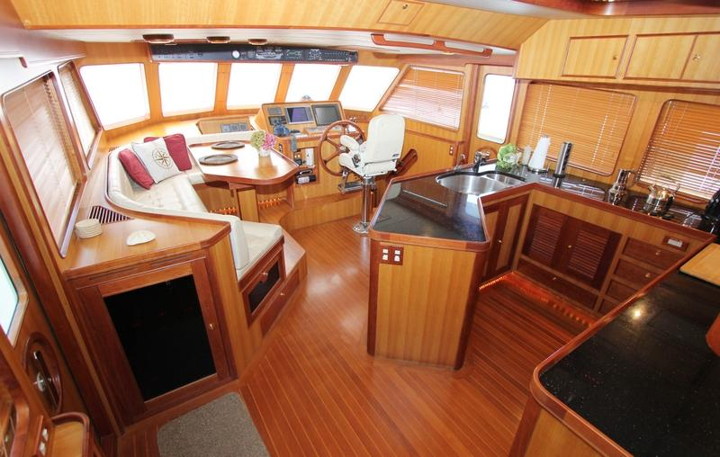 Pilothouse & Galley With Enlarged Settee