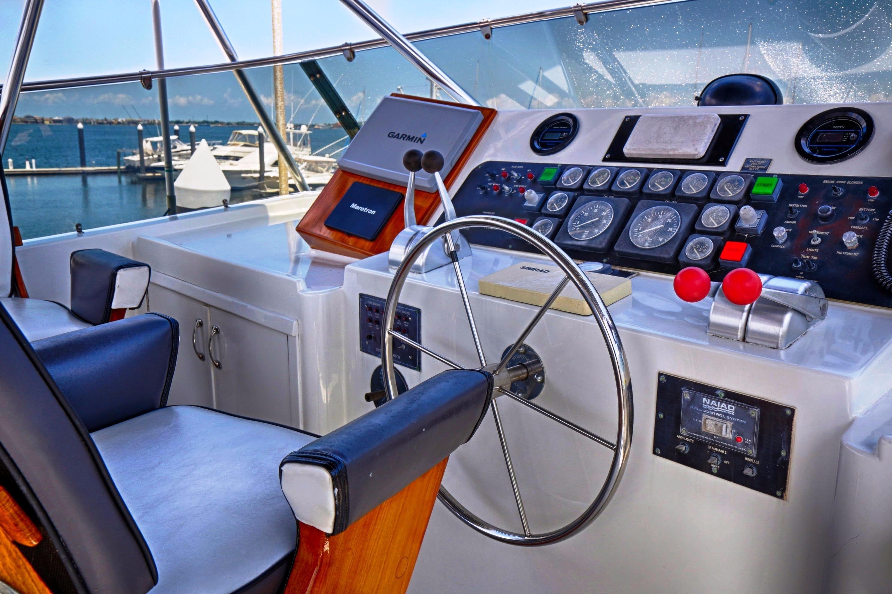 Fly-bridge helm console