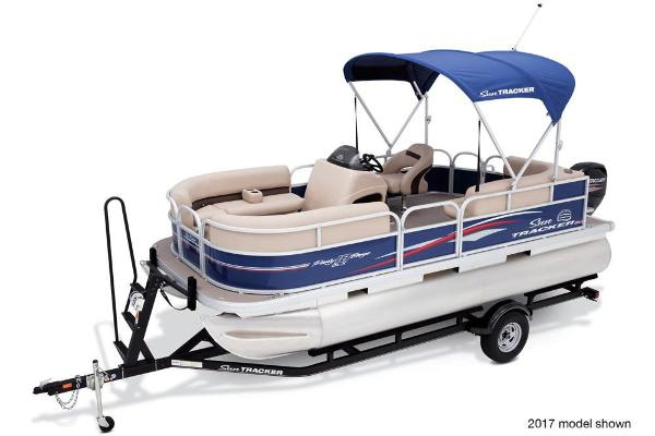 2018 Sun Tracker boat for sale, model of the boat is Party Barge 18 DLX & Image # 2 of 6