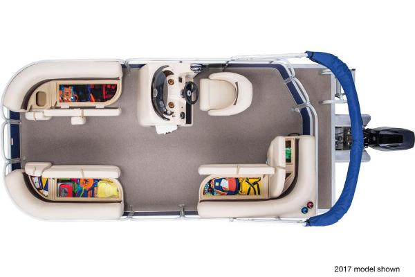 2018 Sun Tracker boat for sale, model of the boat is Party Barge 18 DLX & Image # 6 of 6