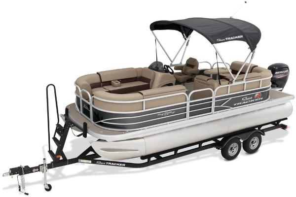 2018 Sun Tracker boat for sale, model of the boat is Party Barge 20 DLX & Image # 2 of 8