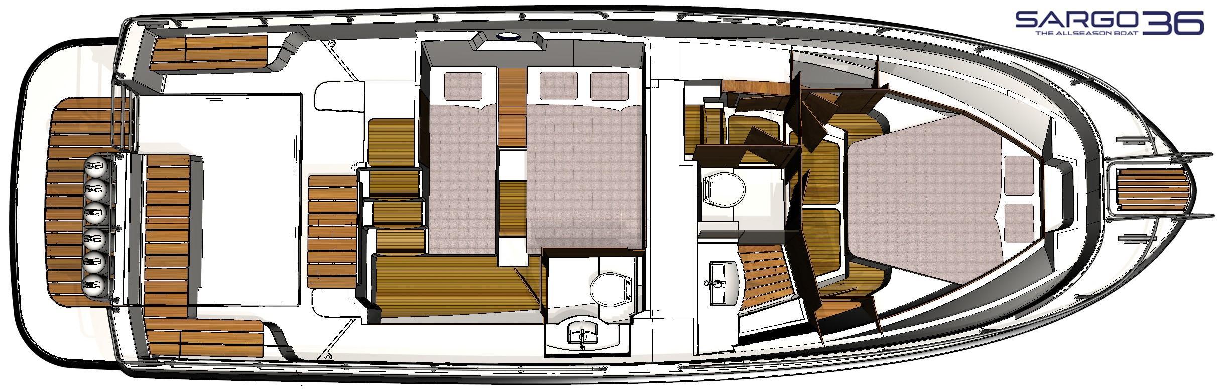 Sargo 36 accommodation plan