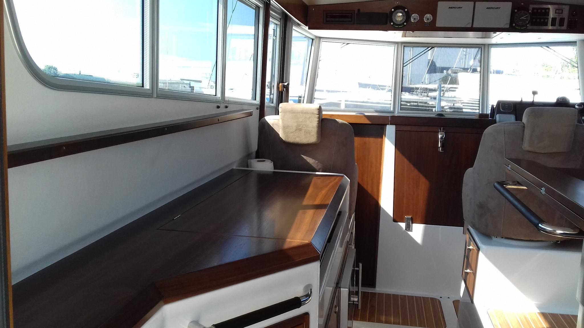 Sargo 36 Fly Saloon looking fwd