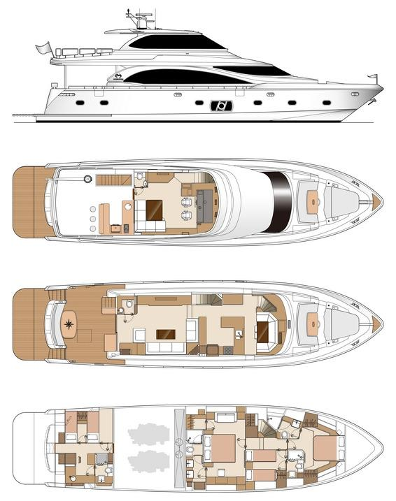 Manufacturer Provided Image: Skylounge Layout with Galley Mid-ship