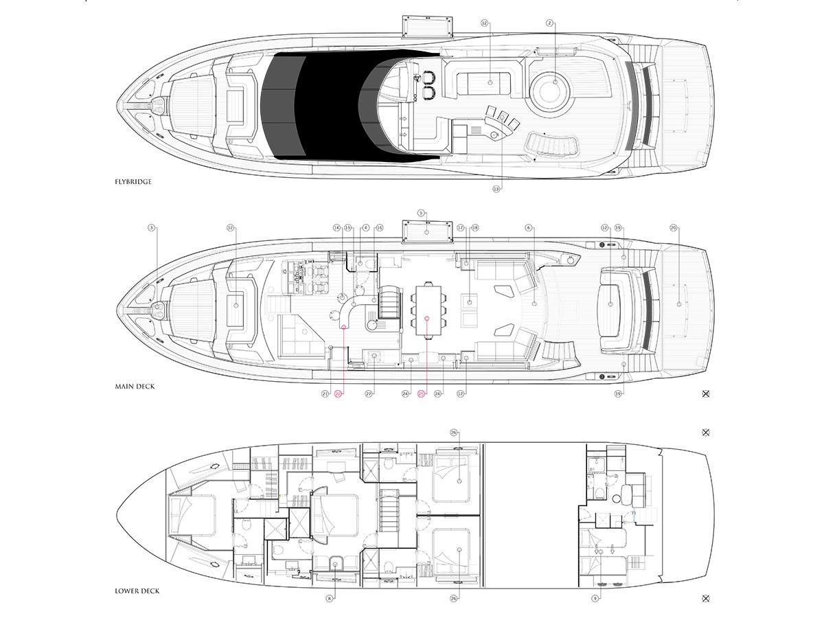 Hard 8 86 Yacht Sunseeker Malta Extreme X8 Wiring Diagram Layout