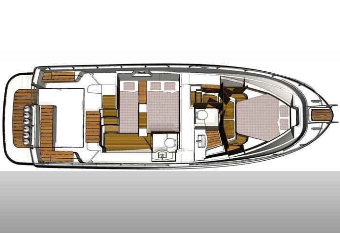 Sargo 36 deck plan accommodation