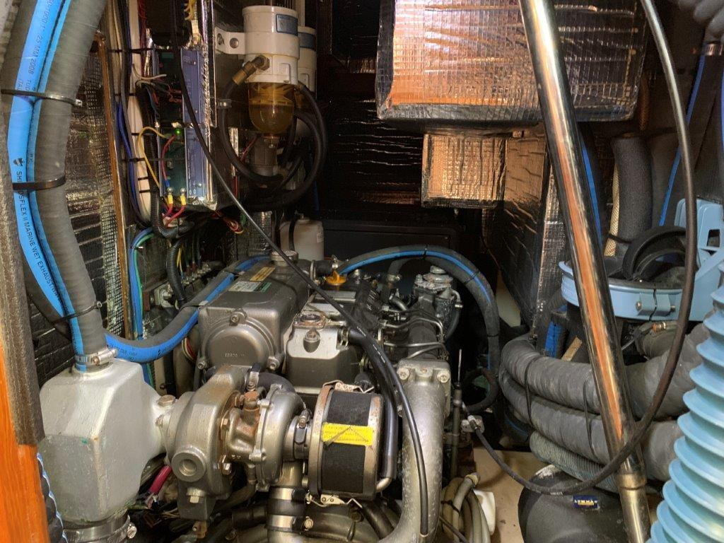 Clean Yanmar engine