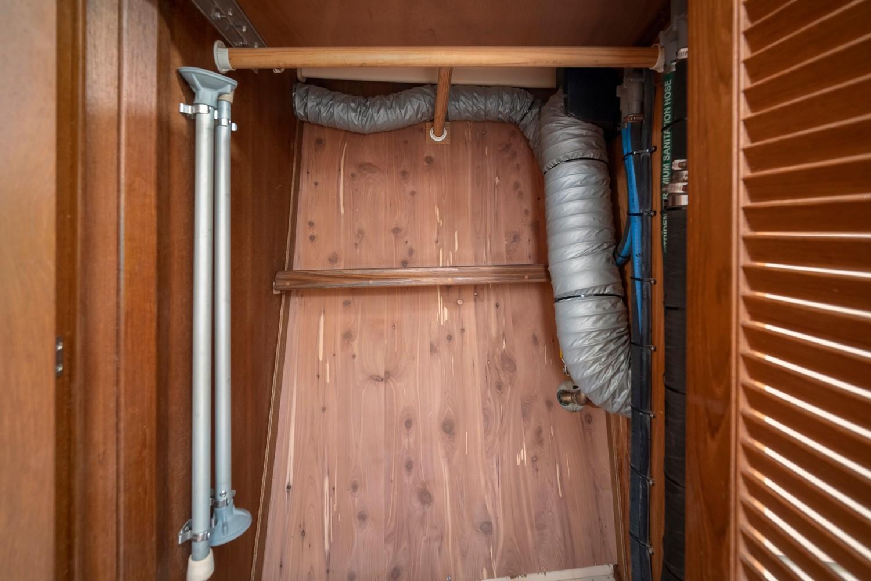 Fwd cabin cedar lined locker