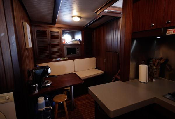 Crew Mess Is Located Opposite Of The Galley