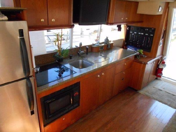 2001 Cruisers 50 Galley to Starboard