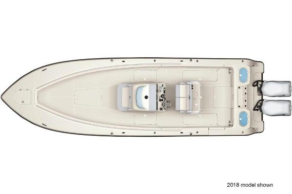2021 Mako boat for sale, model of the boat is 334 CC & Image # 2 of 3