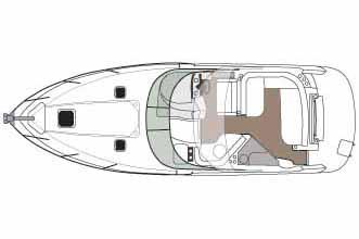 2014 Rinker boat for sale, model of the boat is 340 Express Cruiser & Image # 9 of 9