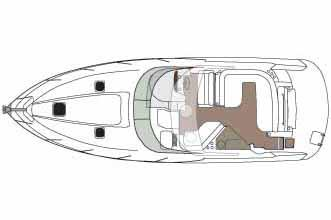 2014 Rinker boat for sale, model of the boat is 360 Express Cruiser & Image # 12 of 12