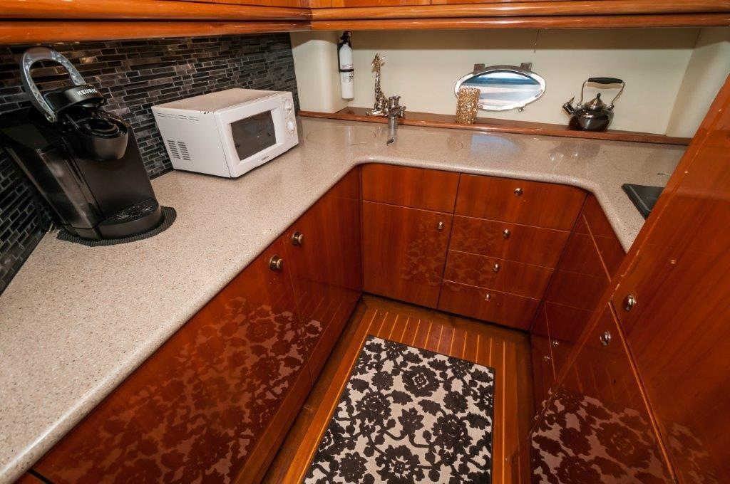Galley with Resurfaced Countertops