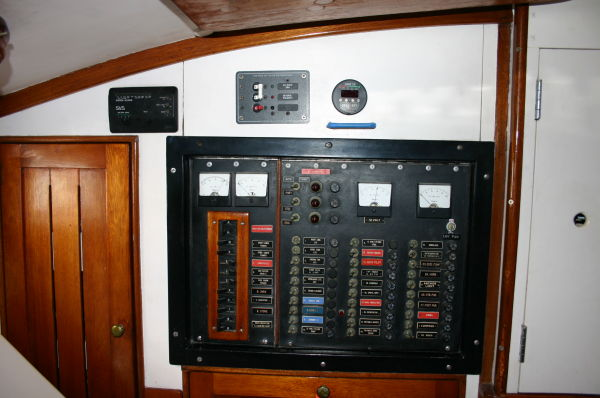 Main Electric Panel In Galley.