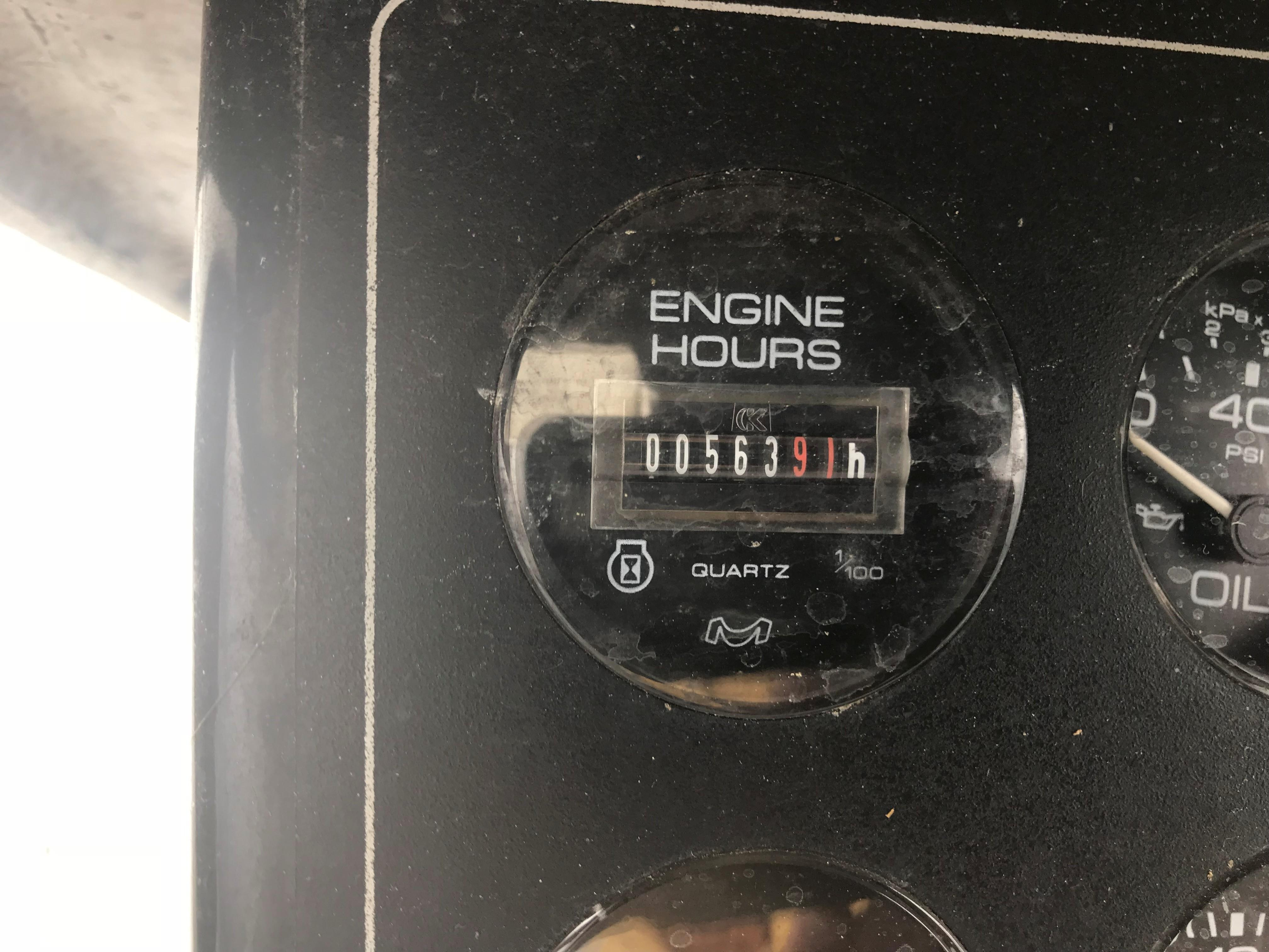 Bluewater Yachts 48 Houseboat - Port side engine hour meter