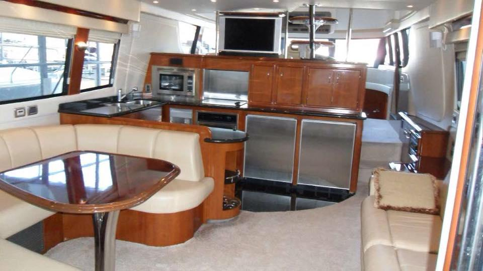 Galley and Dinette with TV