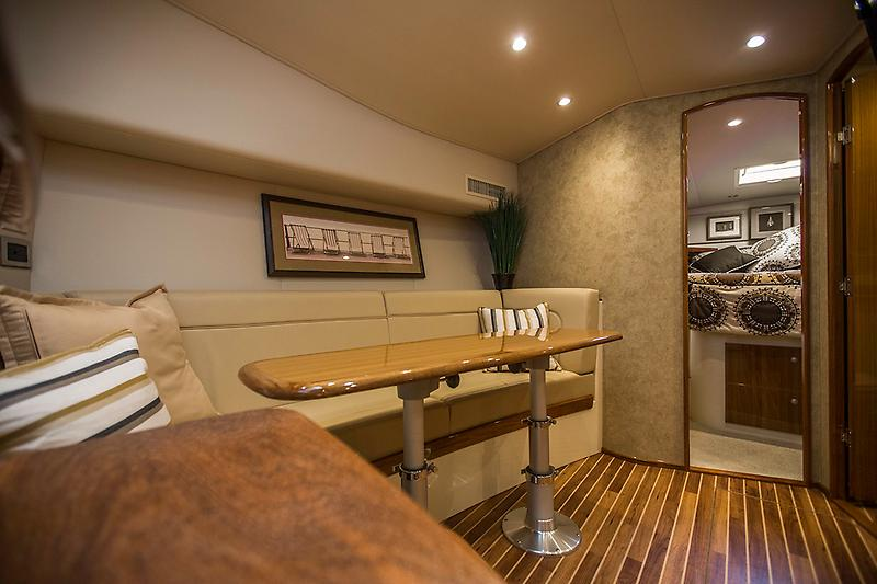 2015 Viking 42 Open, salon dinette picture 1 (converts into a sleeper)
