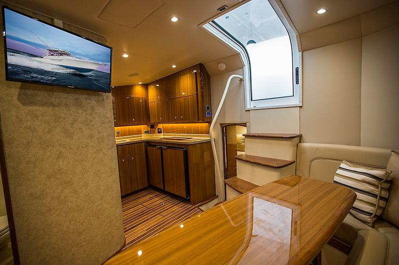 2015 Viking 42 Open, looking into the galley