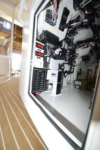 2015 Viking 42 Open, beneath Lower helm console (NOTE Helm deck HVAC Controls)
