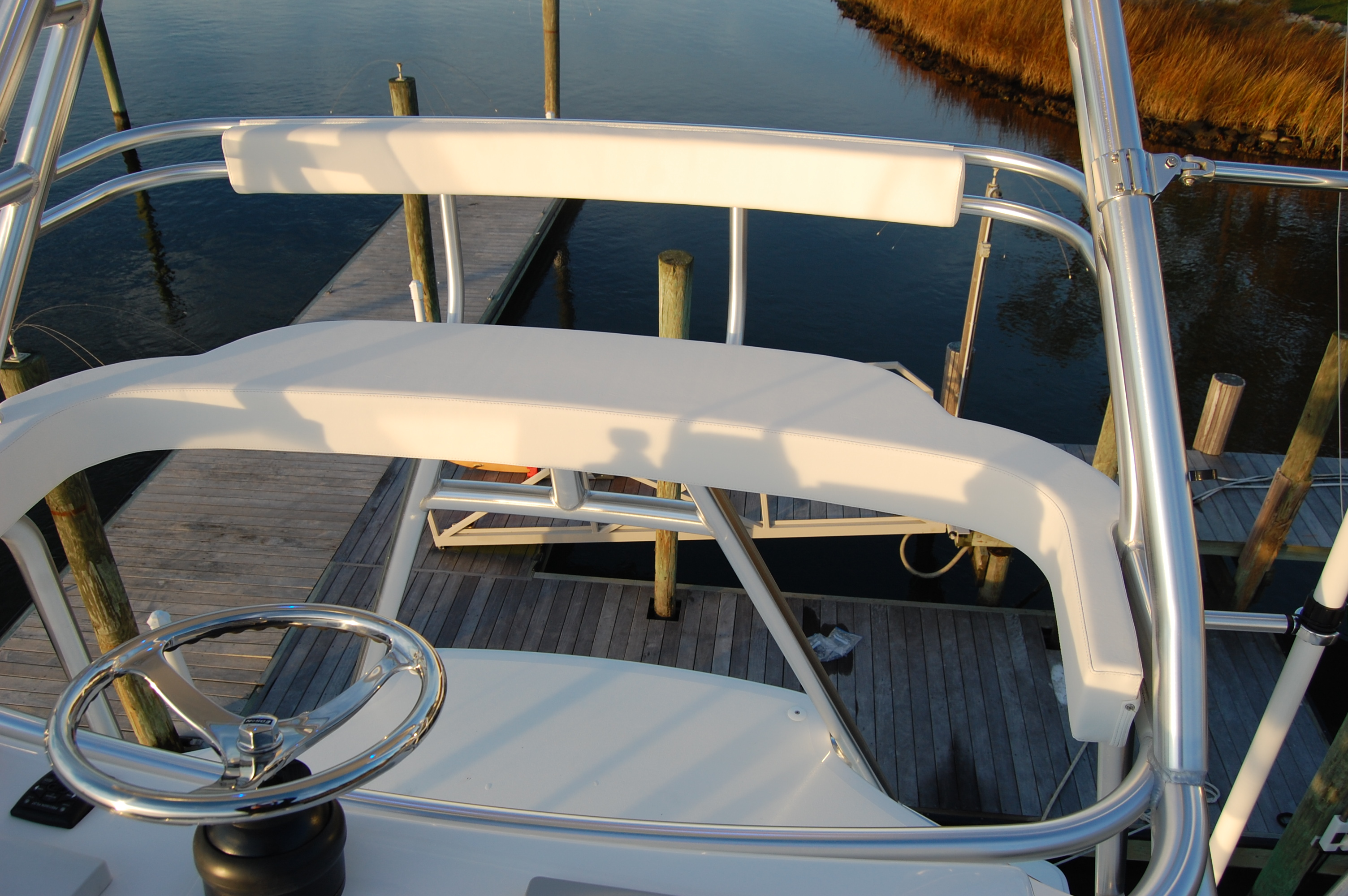 2015 Viking 42 Open, cushions on tower