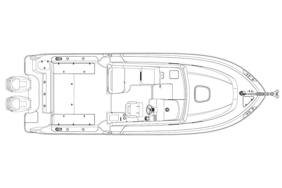 Boston Whaler 315 Conquest Plan View