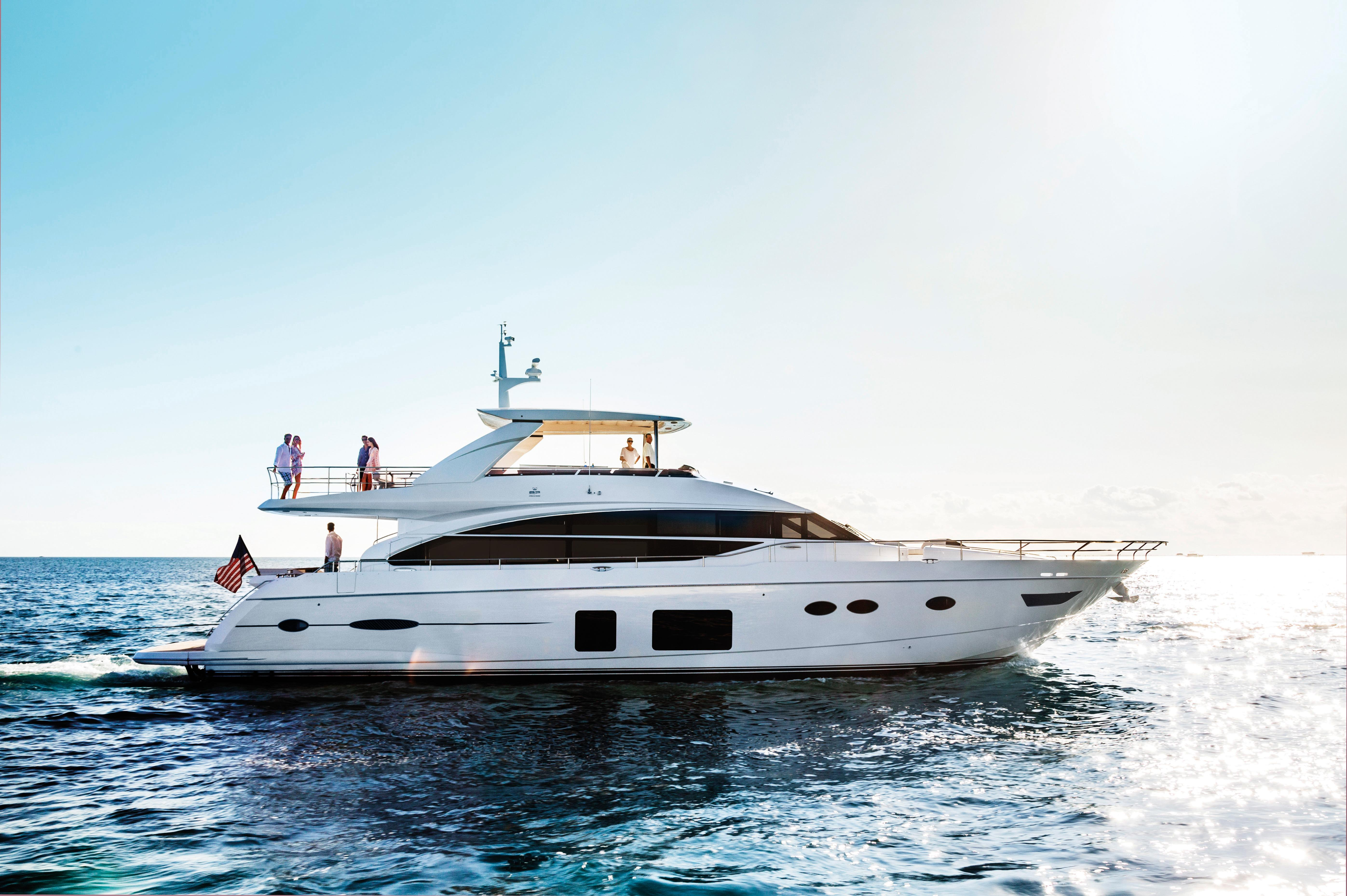 Manufacturer Provided Image: Princess 82 Motor Yacht Side Profile